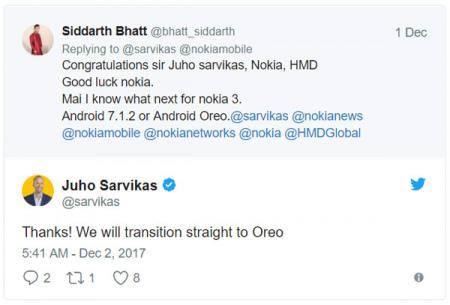 Nokia 3 Android 7.1.2 Oreo