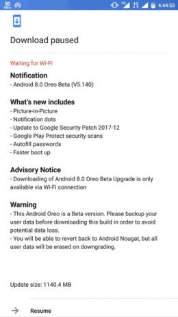 Nokia 6 Android 8.0 Oreo beta