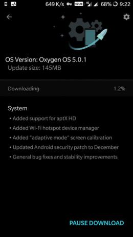 OxygenOS 5.0.1 OnePlus 3 3T