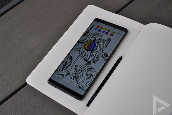 Samsung Galaxy Note 8 tekenen