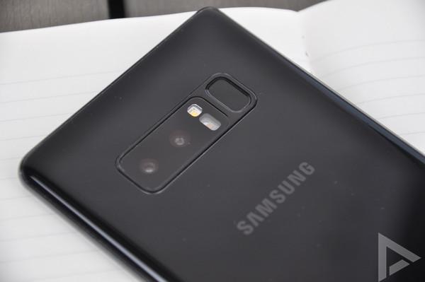 Samsung Galaxy Note 8 vingerafdrukscanner