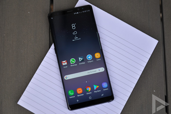 Samsung Galaxy Note 8 beveiligingsupdate december 2017