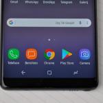 Samsung Galaxy Note 8 navigatie