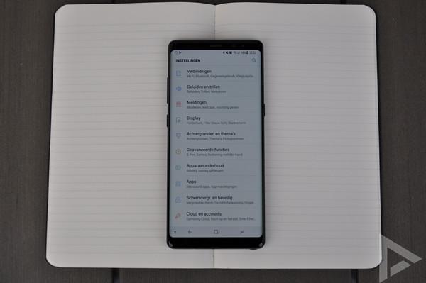 Samsung Galaxy Note 8 instellingen