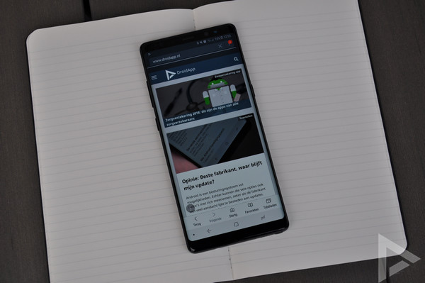 Samsung Galaxy Note 8 Internet browser