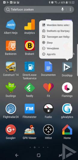 Samsung Galaxy Note 8 app verwijderen