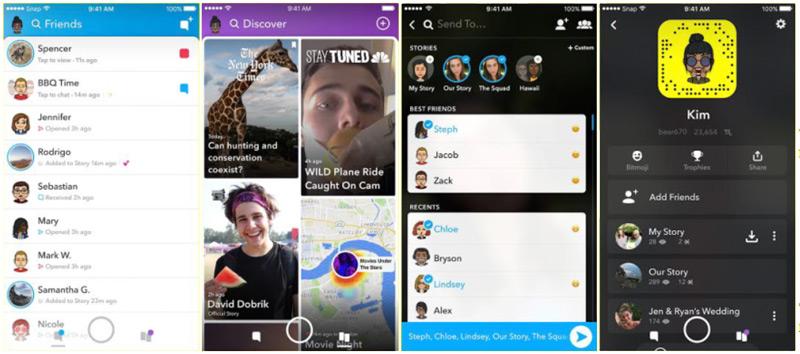 Snapchat update design