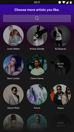 Spotify design UI
