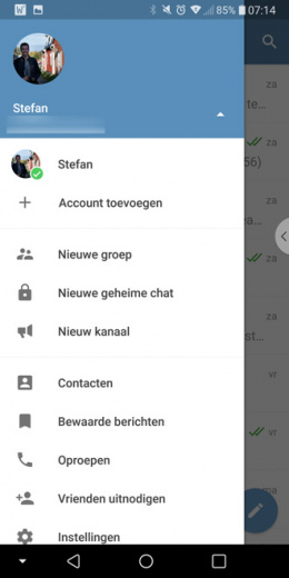 Telegram 4.7 multiple accounts