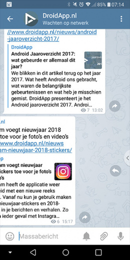 Telegram 4.7 quick reply