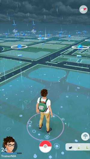 Pokémon Go regen