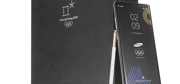 Samsung presenteert Galaxy Note 8 Olympic Games Edition voor Winterspelen