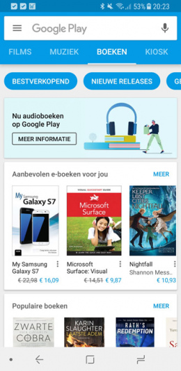 Google Play Books audioboeken