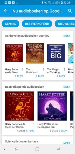 Google Play Store luisterboeken