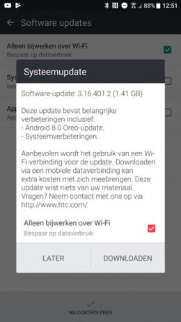 HTC 10 Oreo