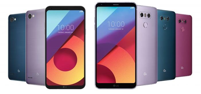 LG G6 en Q6 in nieuwe kleuren voorgesteld: welke kleur kies jij?