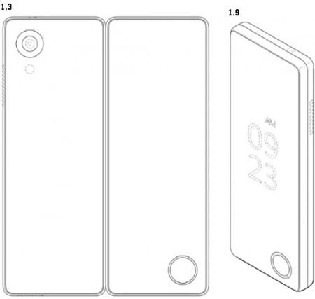 LG opvouwbare smartphone patent