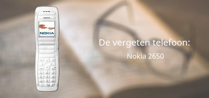 De vergeten telefoon: Nokia 2650