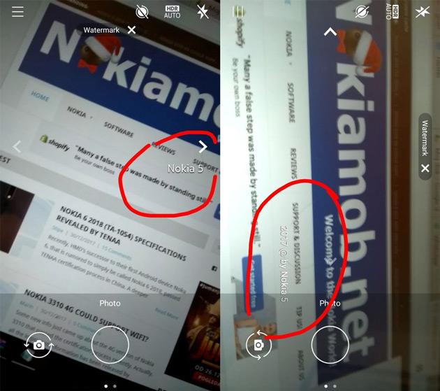 Nokia watermerk camera