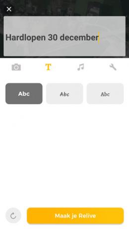 Relive app