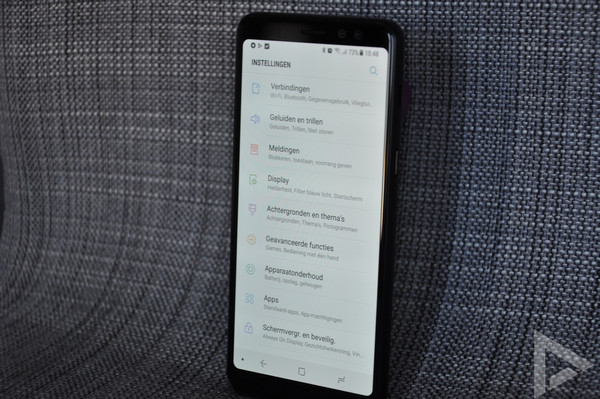 Samsung Galaxy A8 2018 instellingen