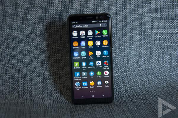 Samsung Galaxy A8 2018 menu
