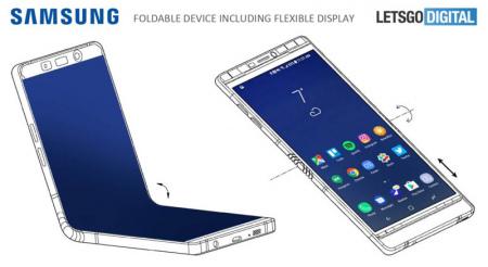 Samsung patent opvouwbare smartphone