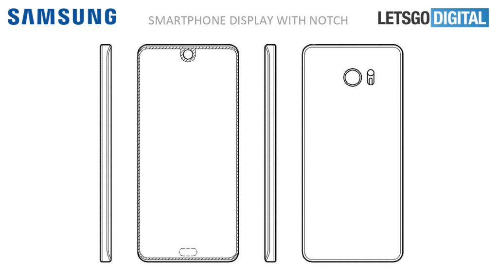 Samsung patent voorkant display
