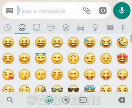 WhatsApp Sticker-knop