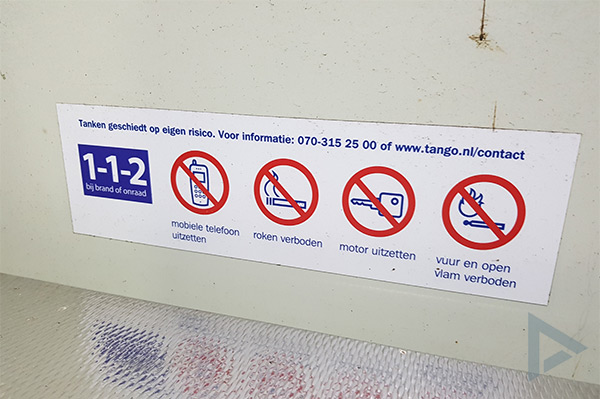 telefoon verbod tankstation
