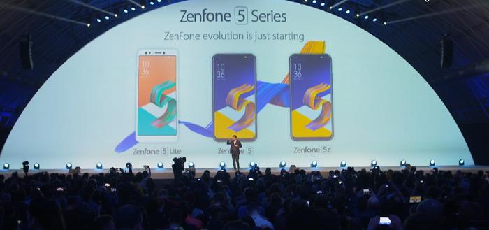 Asus presenteert schitterende ZenFone 5-serie voor 2018 op MWC: met notch