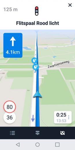 Flitsmeister navigatie