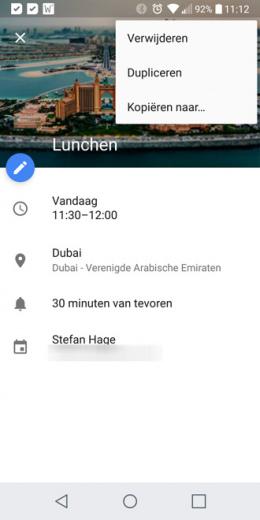 Google Agenda 5.8.18