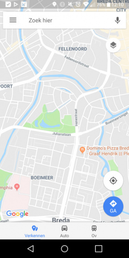 Google Maps nieuwe interface