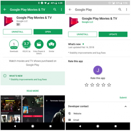 Google Play Store redesign wit