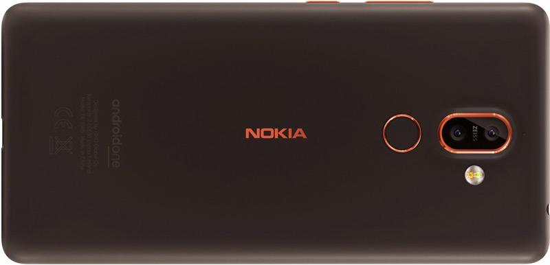 Nokia 7+ grijs-bruin