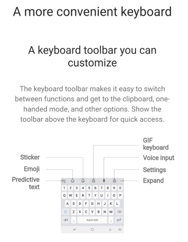 Samsung Experience 9 toetsenbord