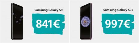Samsung Galaxy S9 prijzen europa