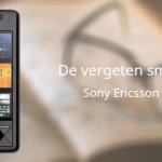 De vergeten smartphone: Sony Ericsson Xperia X1