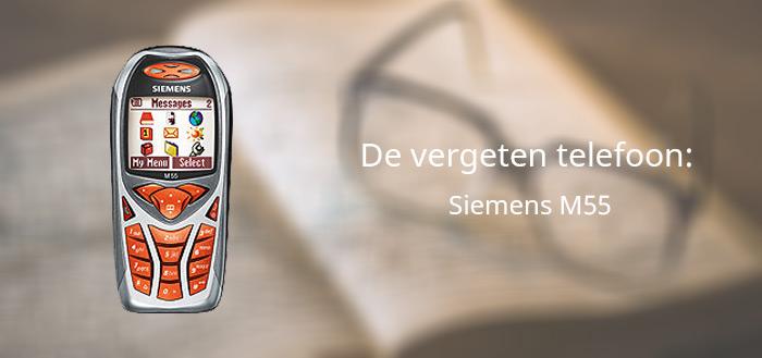 De vergeten telefoon: Siemens M55