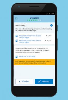 Belastingdienst aangifte app