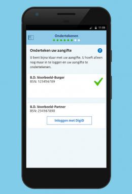 Belastingdienst aangifte 2017 app