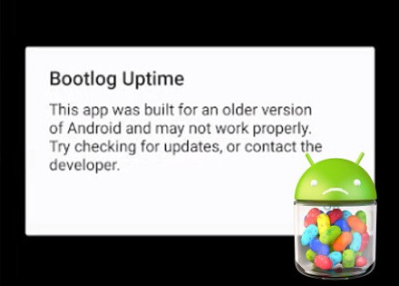 Android P oudere apps