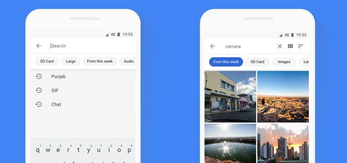 Google Files Go zoekfunctie