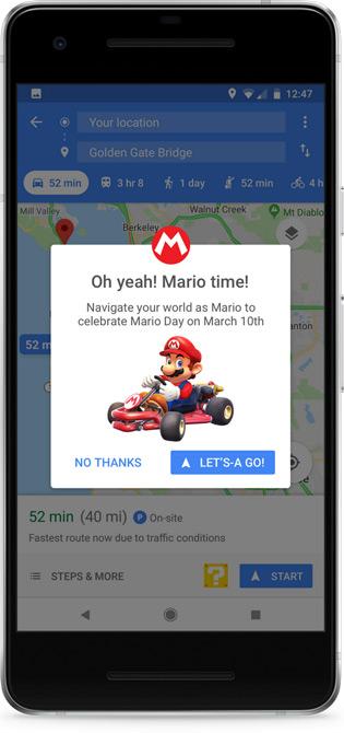 Google Maps Mario Kart