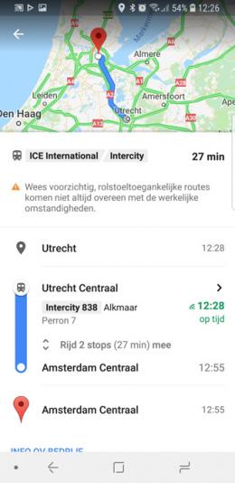 Google Maps rolstoel