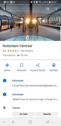 Google Maps witte kaarten