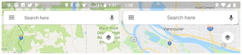 Google Maps zoekbalk