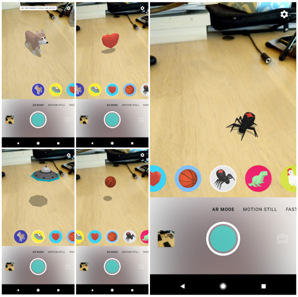 Google Motion Stills AR Stickers