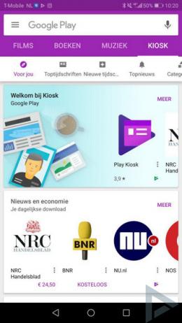 Google Play Store startscherm 02
